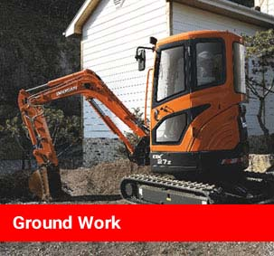 Ground Work Link - Image of digger bucket